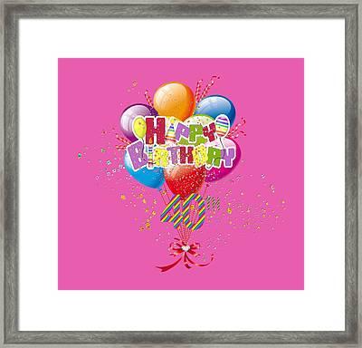 Happy 40th Birthday Framed Print