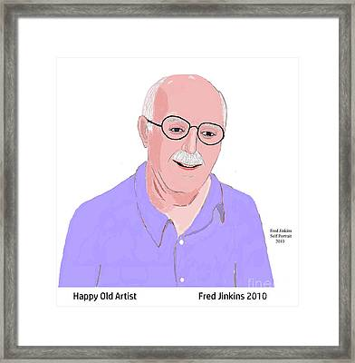 Happy Old Artist Framed Print by Fred Jinkins