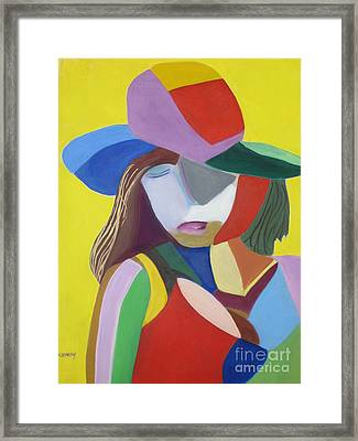 Hat Framed Print by Patricia Cleasby