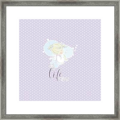 He Fills My Life With Good Things Framed Print by Precious Moments