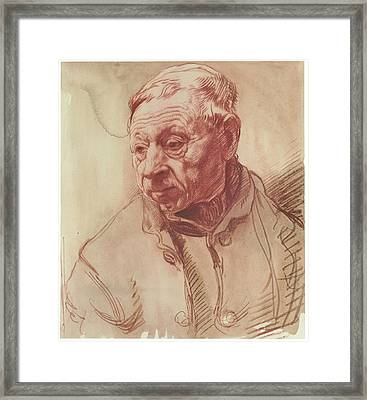 Head Of A Man Framed Print