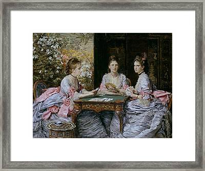 Hearts Are Trumps Framed Print by John Everett Millais