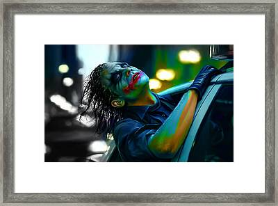 Heath Ledger Framed Print