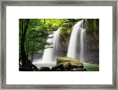 Heo Suwat Waterfall  Framed Print