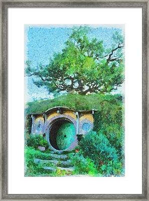 Homes Of The Shire Folk Framed Print by Sarah Kirk