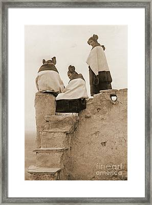 3 Hopi Women Framed Print by Padre Art