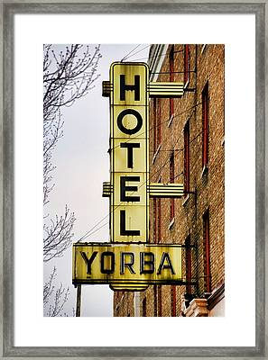 Hotel Yorba Framed Print by Gordon Dean II