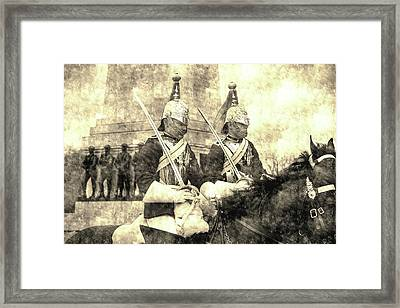 Household Cavalry Changing Of The Guard Vintage Framed Print
