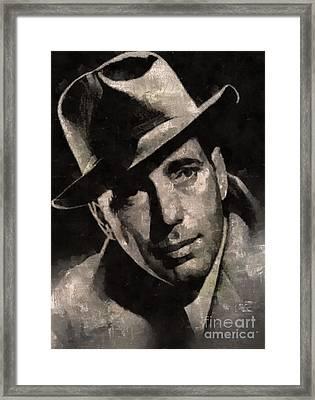 Humphrey Bogart Vintage Hollywood Actor Framed Print