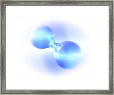 Hydrogen Molecule Framed Print by Pasieka