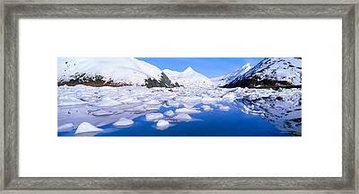 Icebergs In Portage Lake And Portage Framed Print
