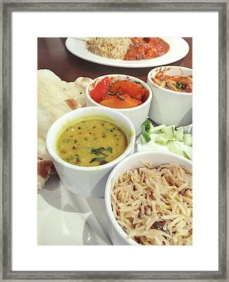 Indian Food Selection Framed Print by Tom Gowanlock