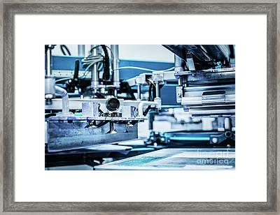 Industrial Metal Printing Machinery. Framed Print by Michal Bednarek