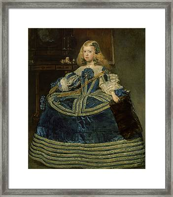 Infanta Margarita Teresa In A Blue Dress Framed Print