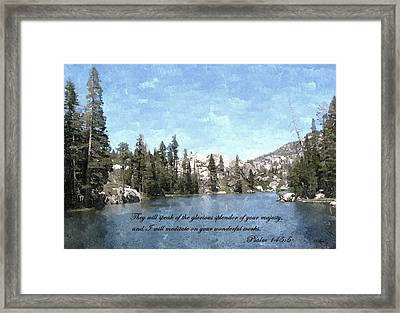 Inspirations 1 Framed Print by Sara  Raber