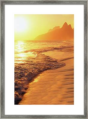 Ipanema Beach Rio De Janeiro Brazil Framed Print