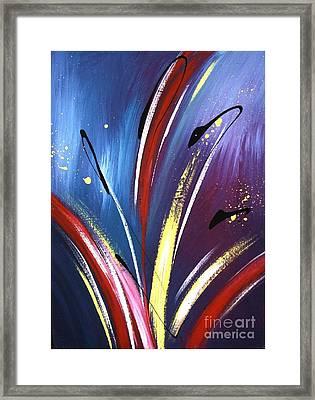 Iris In Space Framed Print
