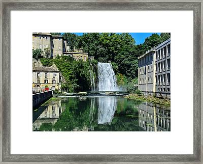Isola Del Liri Falls Framed Print