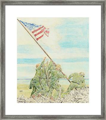 Iwo Jima Framed Print by Dennis Larson
