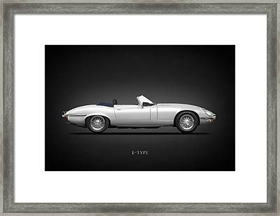 Jaguar E-type Framed Print by Mark Rogan