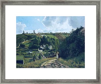 Jalais Hill, Pontoise Framed Print by Camille Pissarro