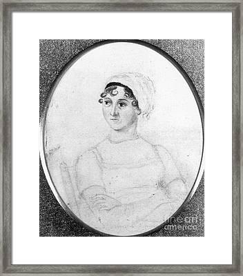 Jane Austen (1775-1817) Framed Print by Granger