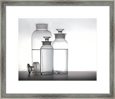 3 Jars Framed Print