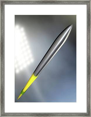 Javelin In Night Stadium Framed Print