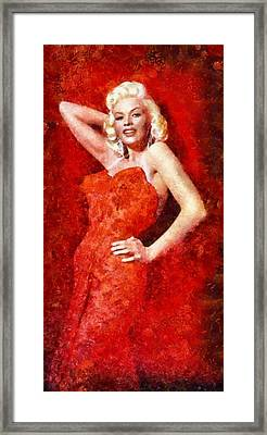 Jayne Mansfield Hollywood Actress And Pinup Framed Print