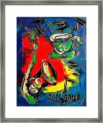 Jazz Framed Print by Mark Kazav