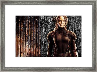 Jennifer Lawrence Collection Framed Print