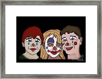 3 Jesters Framed Print by Megan Dirsa-DuBois