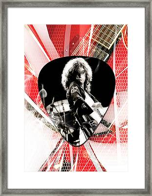 Jimmy Page Art Framed Print by Marvin Blaine