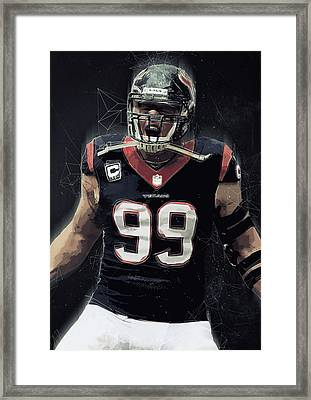 Jj Watt Framed Print by Semih Yurdabak