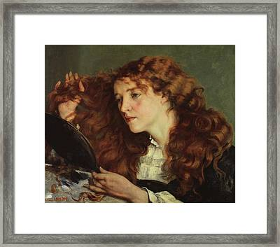 Jo, The Beautiful Irish Girl Framed Print by Gustave Courbet
