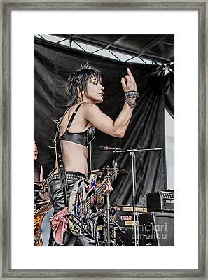 Joan Jett Framed Print by Ricky Schneider