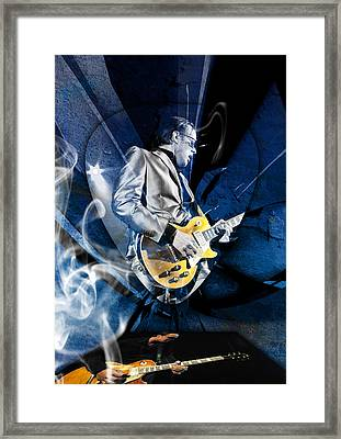 Joe Bonamassa Blues Guitarist Art Framed Print by Marvin Blaine