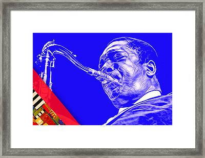 John Coltrane Collection Framed Print by Marvin Blaine