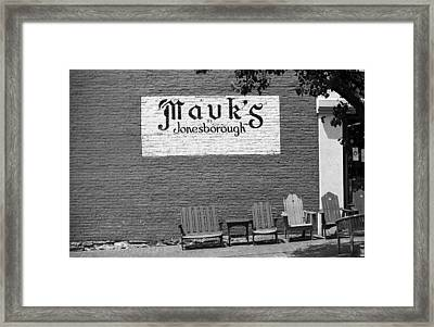 Jonesborough Tennessee - Mauk's Store Framed Print
