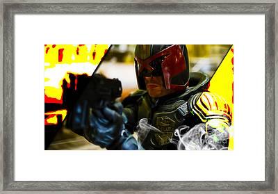 Judge Dredd Collection Framed Print by Marvin Blaine