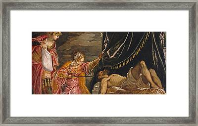 Judith And Holofernes Framed Print by Tintoretto