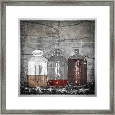 3 Jugs Framed Print by Marty Garland