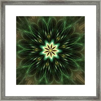 #kaleidoscope #mandala #art #digitalart Framed Print by Michal Dunaj