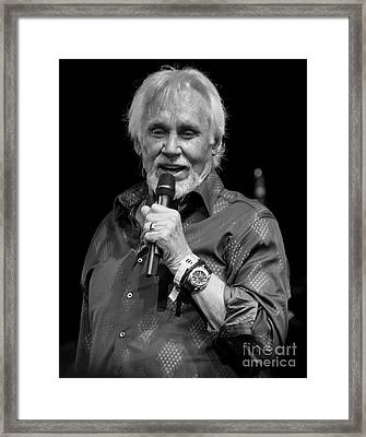 Kenny Rogers At Bonnaroo Framed Print by David Oppenheimer