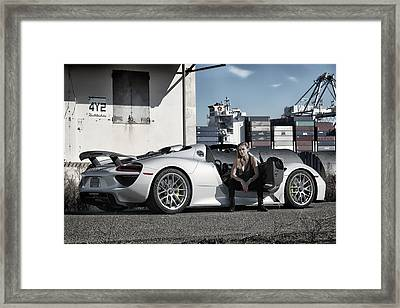 #kim And #porsche #918spyder #print Framed Print by ItzKirb Photography