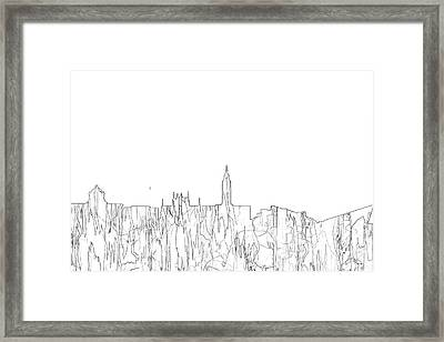 Kingston Upon Hull England Skyline Framed Print