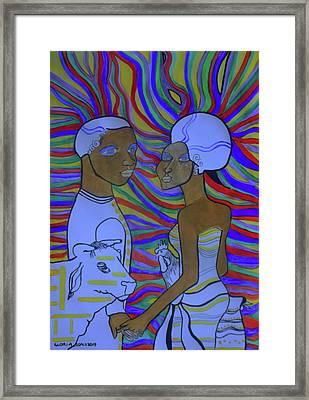Kintu And Nambi The Folktale Framed Print by Gloria Ssali