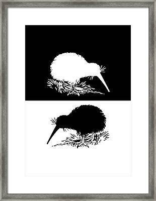 Kiwi Bird Framed Print
