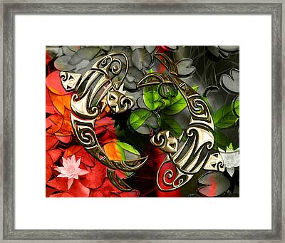 Koi Fish Pond Collection Framed Print by Marvin Blaine