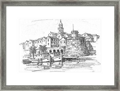 Korcula Croatia Framed Print
